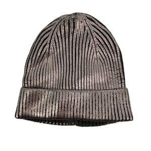 Steve Madden Metallic Cuff Beanie Hat